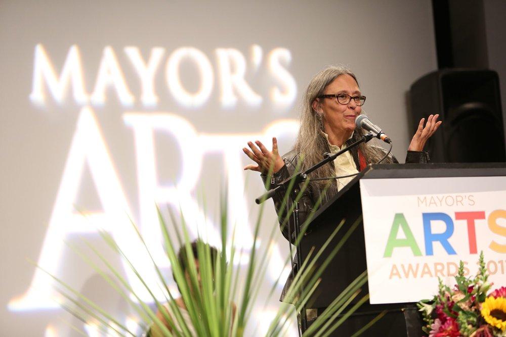 Literary Arts winner Joanne Arnott. | Image: Sarah Race.