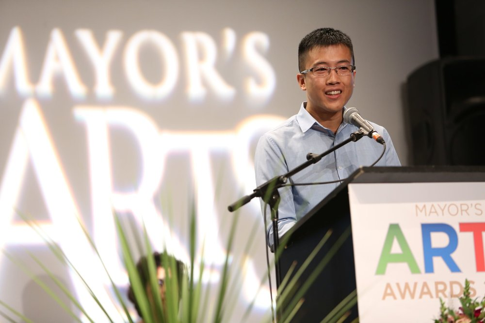 Henry Lau was honoured with both the Volunteerism and Arts Board Member of the Year awards. | Image: Sarah Race.