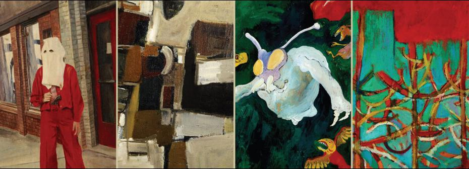 Works by (from left to right) David, Bill, Charles and Frank Mayrs.