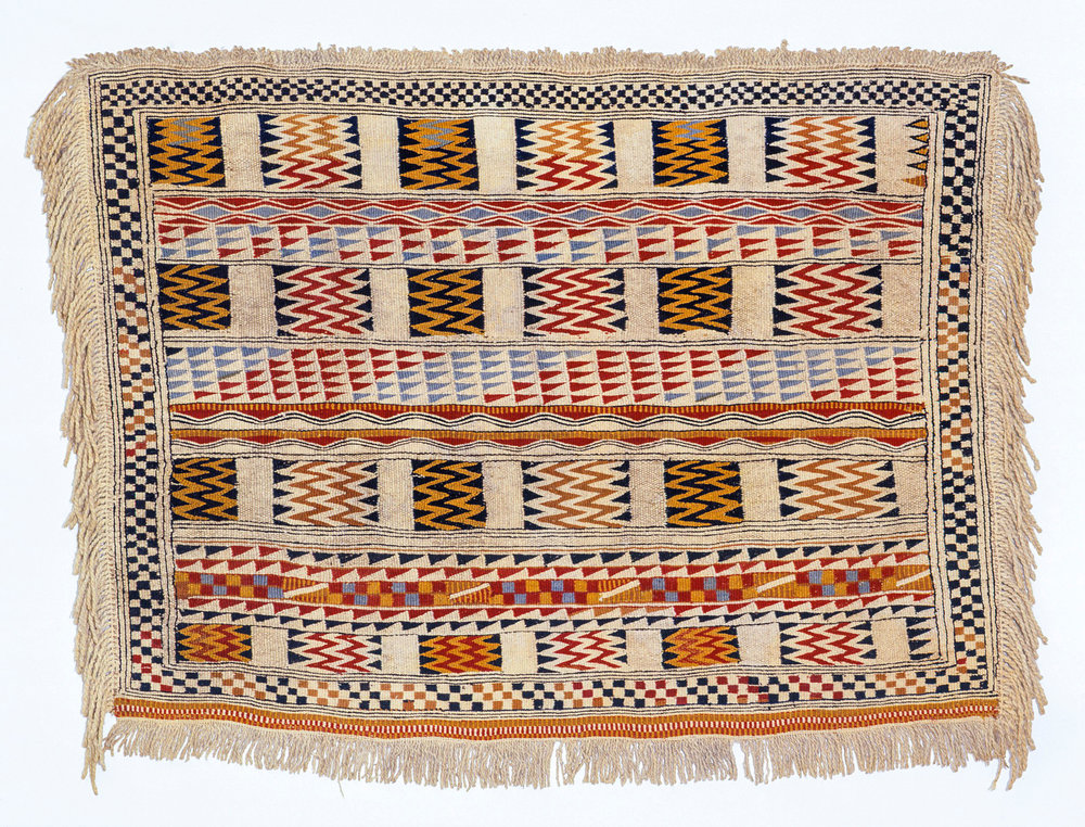 Very little is known of this Salish blanket's history; it entered the collection of the University of Helsinki, Finland in 1828.
