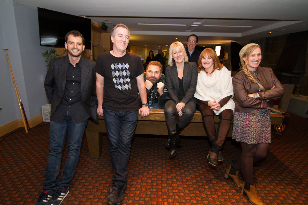 """Hardy, second from right, with participants of the 2016 """"Variety 10 Screenwriters to Watch."""" The screenwriters' panel,hosted by Variety magazine,returns this year for the sixth time. 
