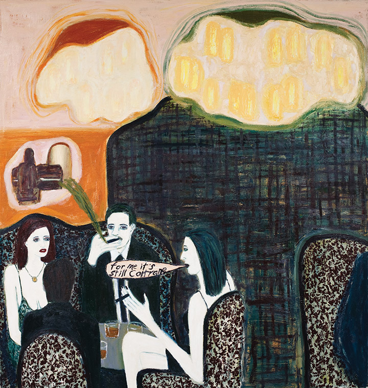 Gary Pearson's painting  Annas Piano Bar and Smoking Room .