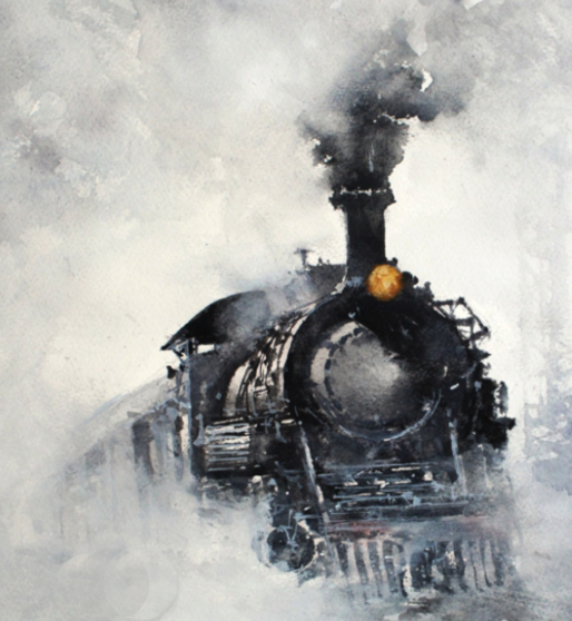 Khan's watercolour paintings transport viewers around the globe. | Image: Massey Theatre.