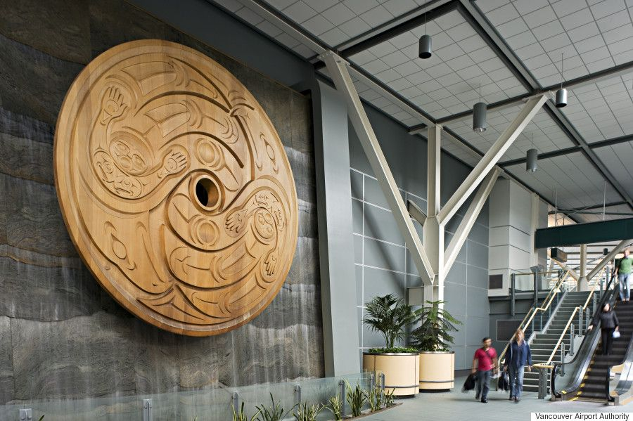 The largest spindle whorl in the world at Vancouver International Airport. | Image: Vancouver Airport Authority