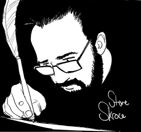 Steve Skroce, self-portrait. | Image: Vancouver Comic Arts Festival.