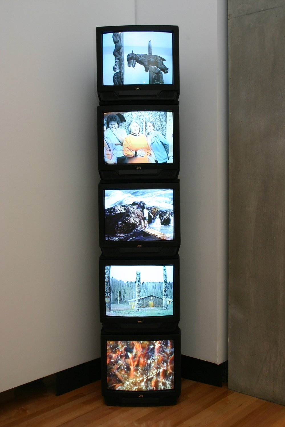 Mike MacDonald's  Electronic Totem , is part of the collection of the Kamloops Art Gallery.