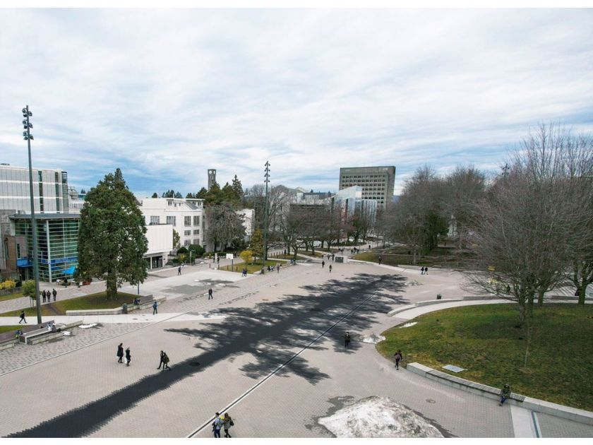 Artist illustration of  The Shadow , 100 metres by 22 metres, by Esther Shalev-Gerz. | Image: UBC.