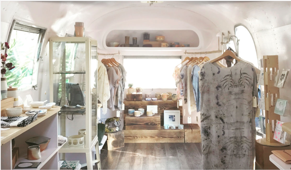 A 1968 Airstream Overlander refurbished into a shop based out of Nelson BC. |  wearestorieshandmade.com/future-craft/
