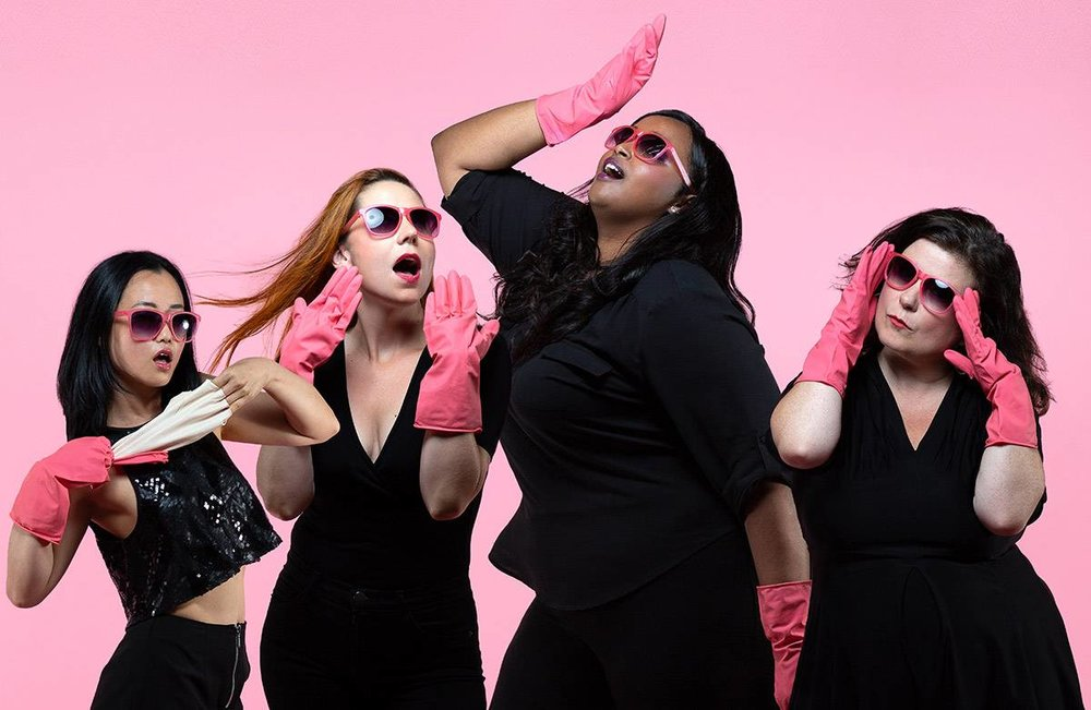 Diana Bang, Katie-Ellen Humphries, Fatima Dhowre, and Morgan Brayton star in  The Lady Show : feminism meets funny. | Maggie MacPherson