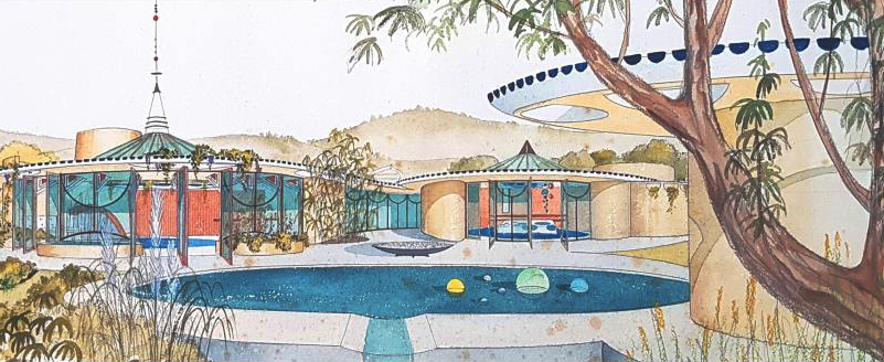 Fred Hollingsworth, Design for a Show House, c. 1960. | Image: West Vancouver Art Museum.