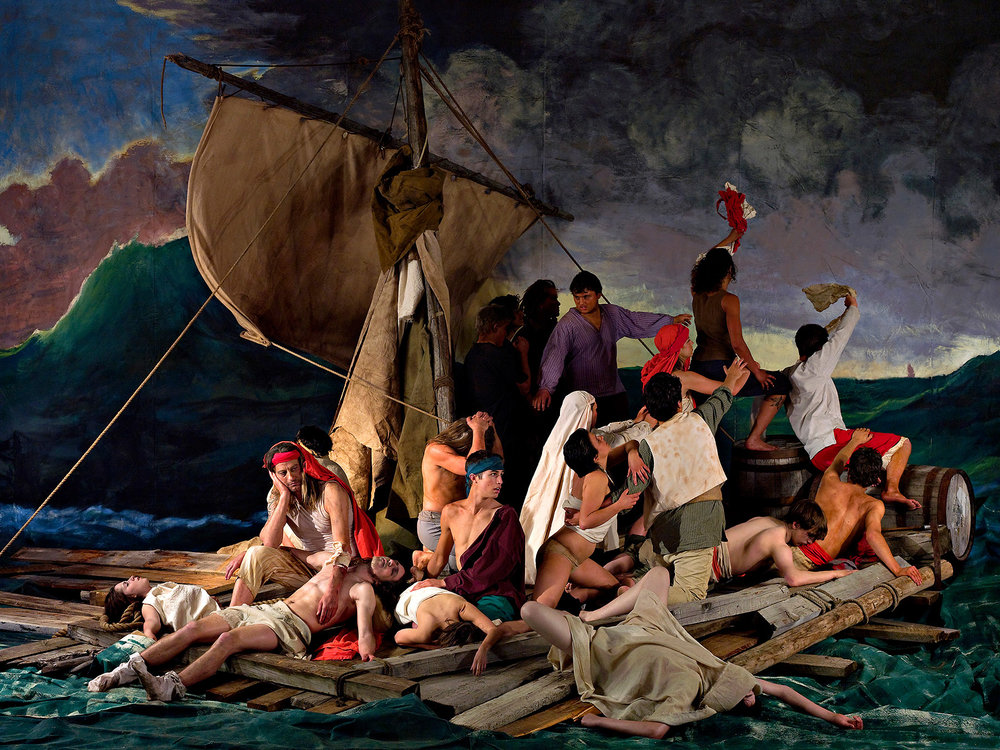 The Raft of the Medusa  by Adad Hannah. | Image: Musée d'art de Joliette.