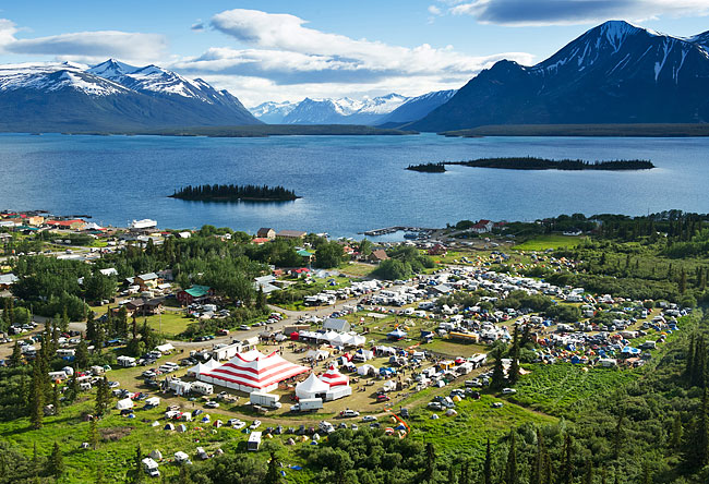 Atlin Arts & Music Festival, which received funding to showcase the culture and work of the Taku River Tlingit First Nation in 2018. | Image: Atlin Arts & Music Festival.