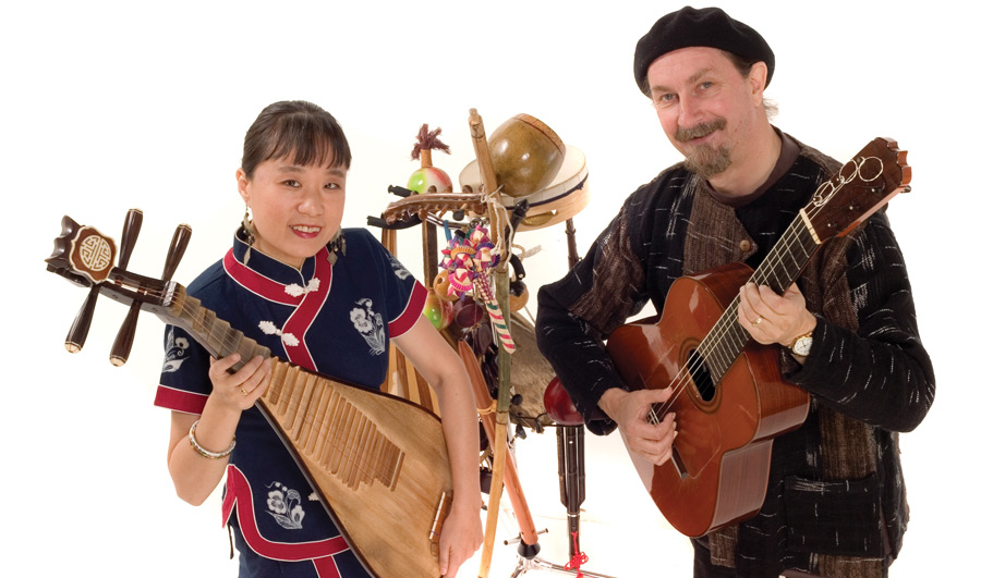 Qiu Xia He and André Thibault of Jou Tou put a global spin on French music at Festival du Bois. | Image: Festival du Bois.