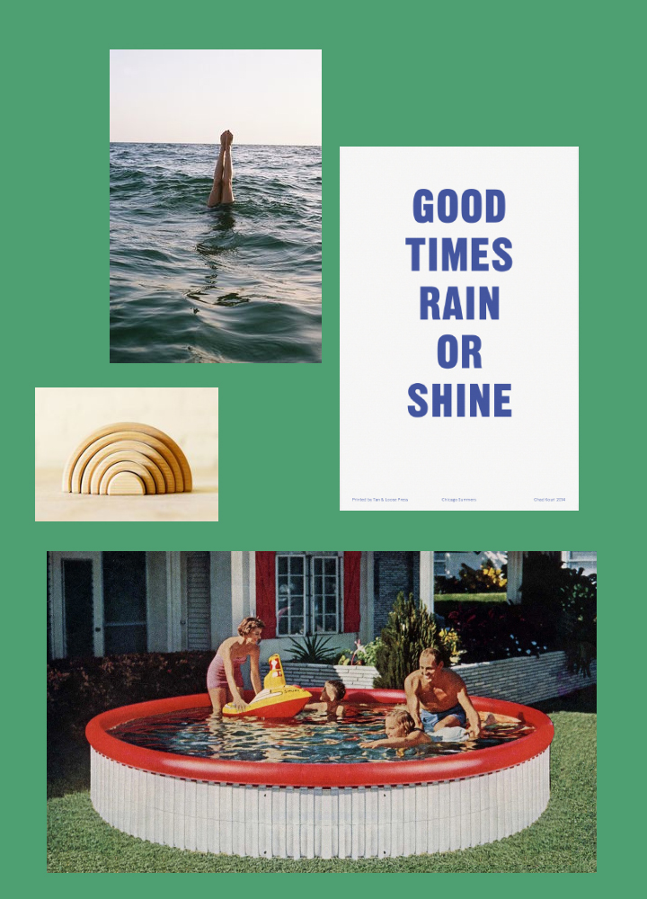 images via internet. rainbow stack via general store and good times print by chad kouri