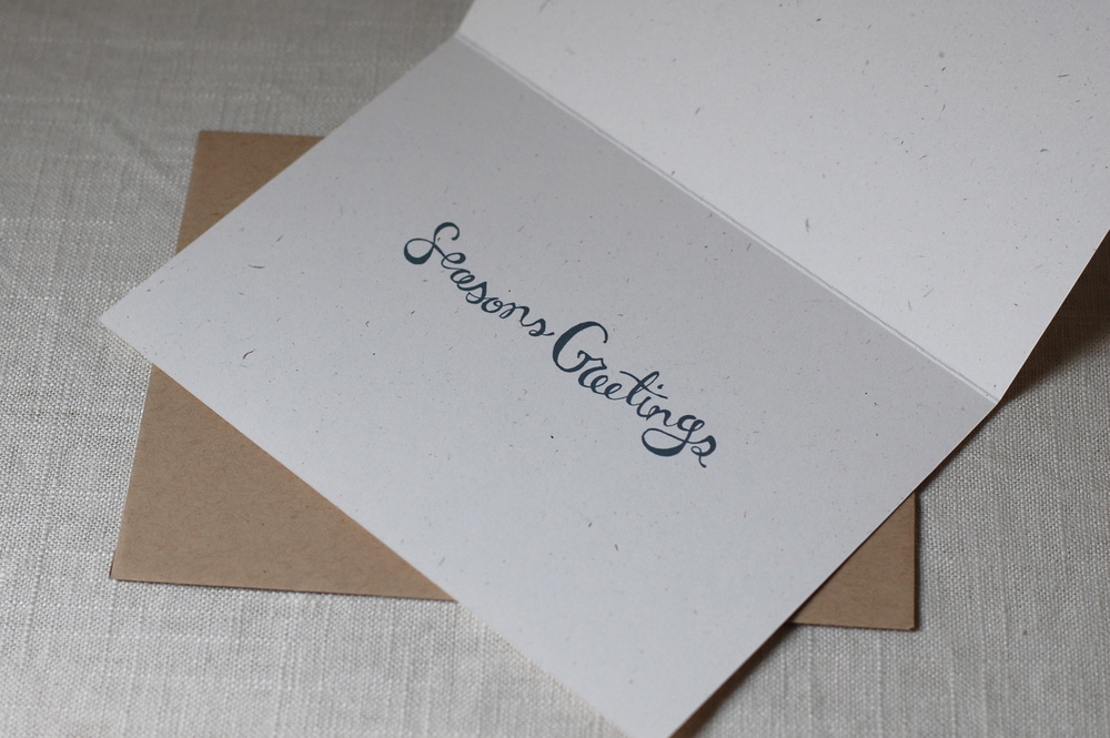 """Inside """"Seasons Greetings"""" hand drawn type by One Sharpened Pencil"""