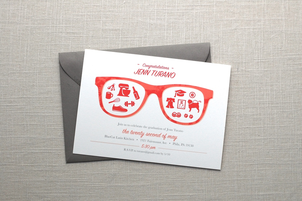 Custom Optometry Graduation Invitation