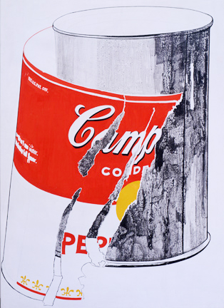 Andy Warhol,  Big Torn Campbell's Soup Can (Pepper Pot) , 1962