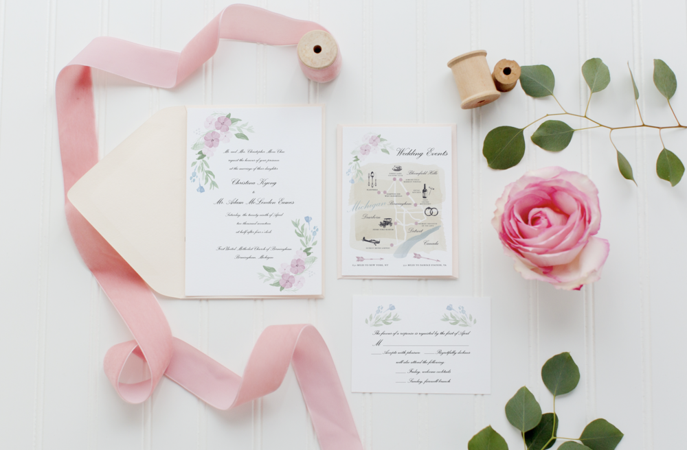 Pastel Watercolor Invitation
