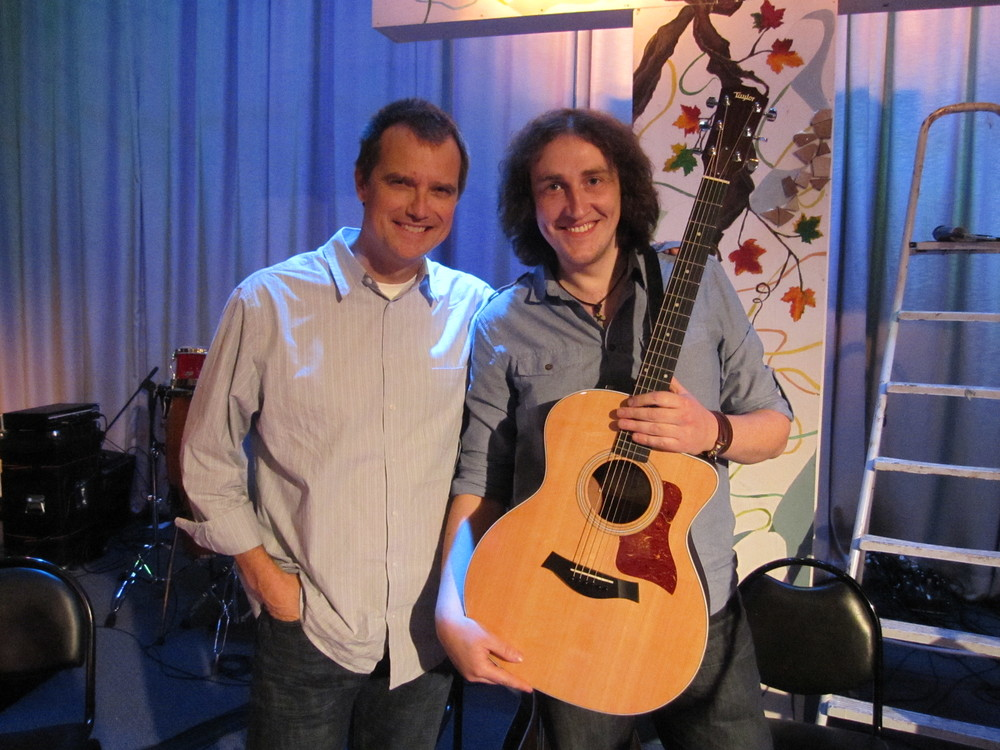 I was able to give this Taylor guitar to my W.L. friend, Andrea in Moscow
