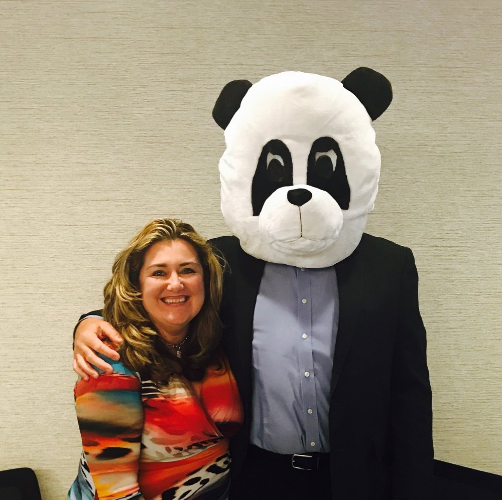 "Content Panda's Heather Newman and Don ""Tall Panda"" Greger at SharePoint Saturday DC"