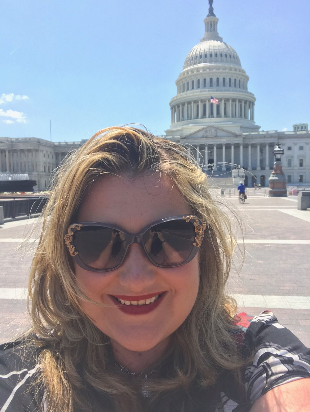 Heather Newman enjoying a quiet trip to the Capitol Building after a busy SharePoint Saturday DC