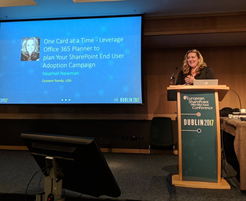Heather Newman presenting at ESPC17