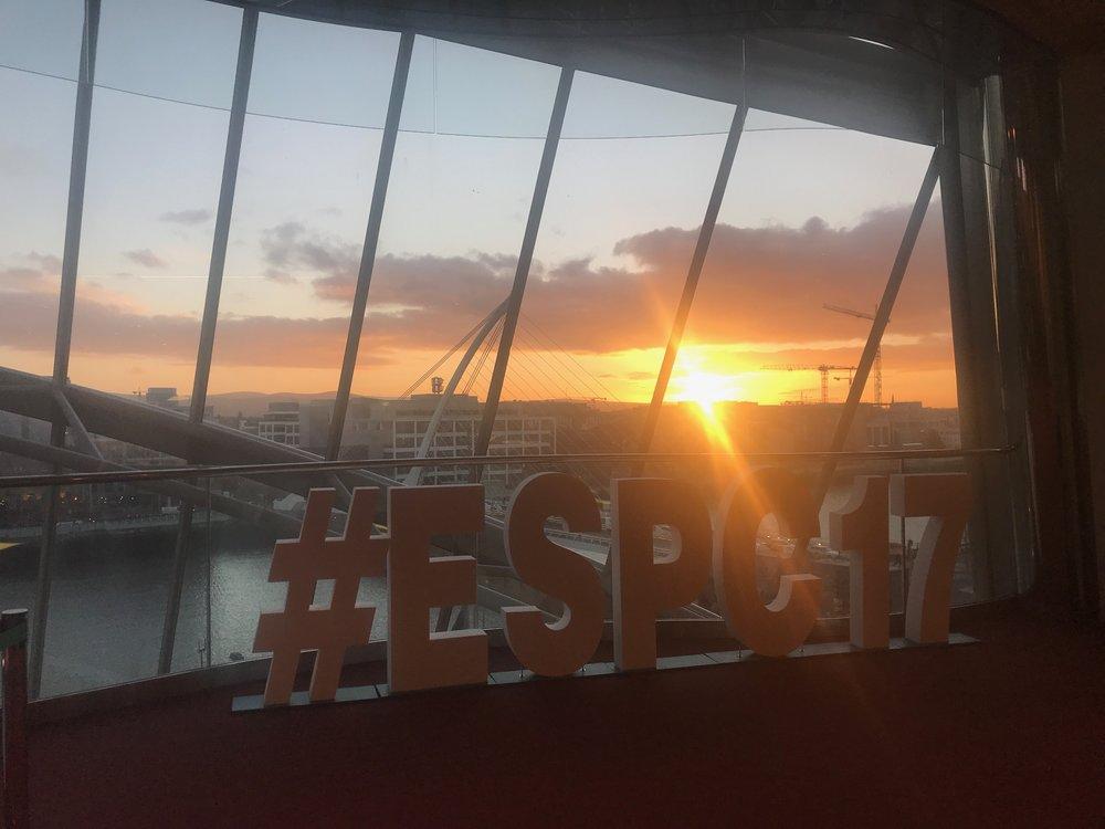 Beautiful Irish sunset at The Convention Center Dublin
