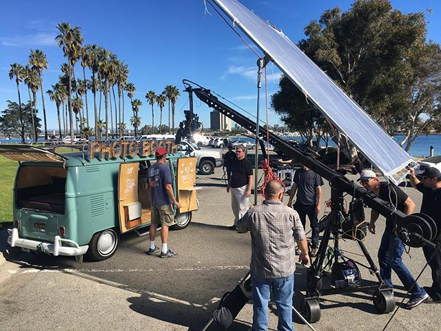 Keep your eyes peeled for us during #superbowl51 on Sunday! We had a great day filming yesterday with the crew @fox5sandiego #sdphotobus