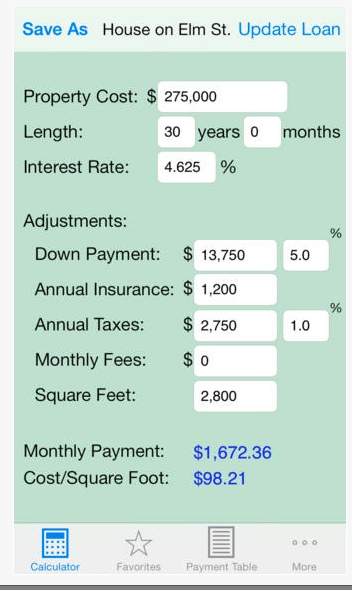 screen shot for Mortgage Calculator +