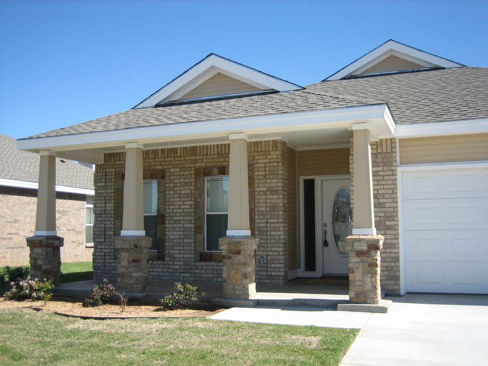 Check out the front elevation of this home.
