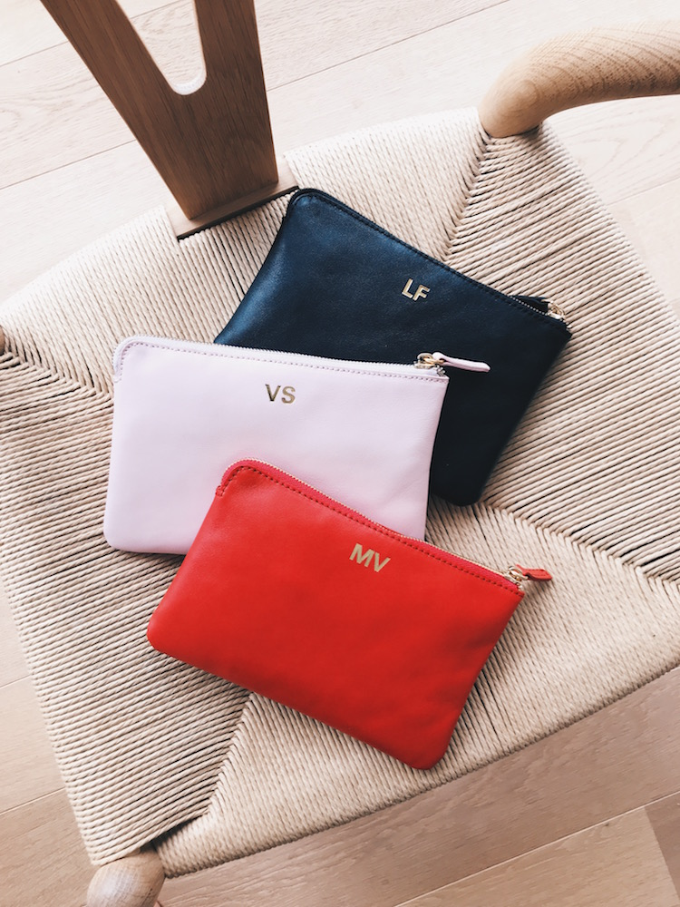 Leather, forever.      - Our leather bags are available in three sizes and four colour options. They will be printed with a stunning gold-foil print, you can choose between initials or any word up to 6 letters. How about