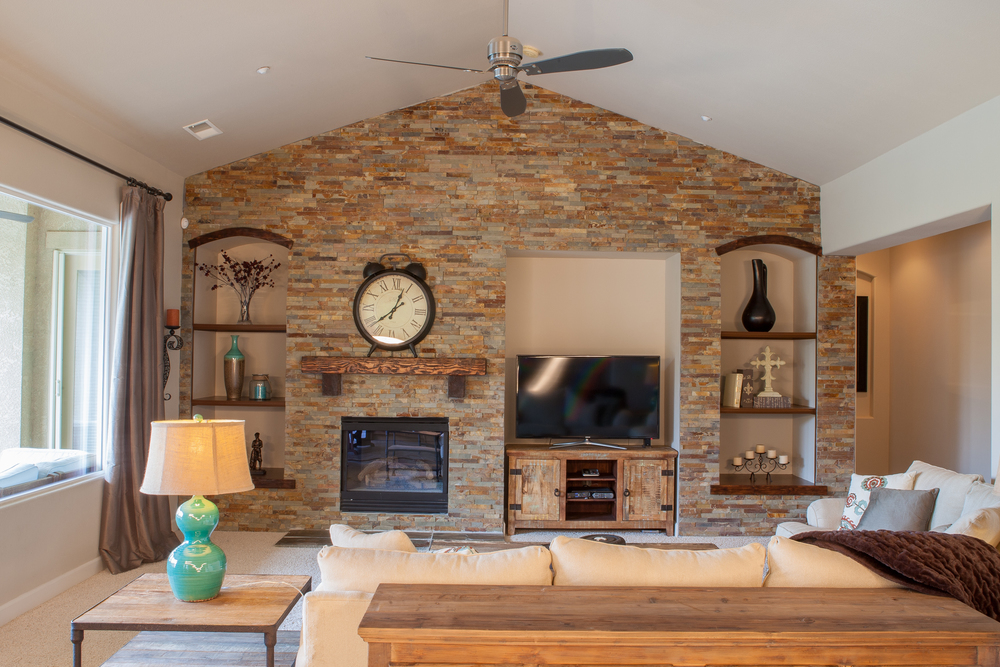 Living Room Stone Addition