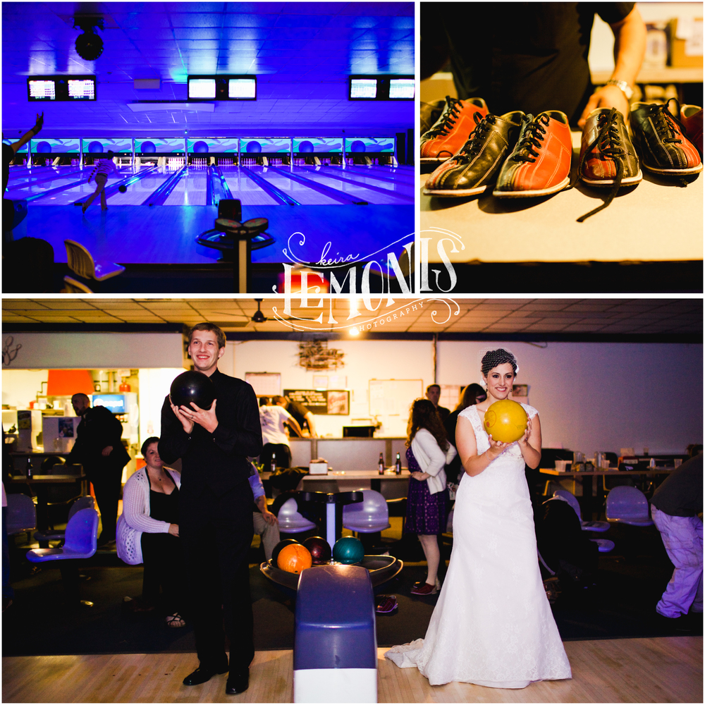 They ended their wedding night with a little bowling :-)