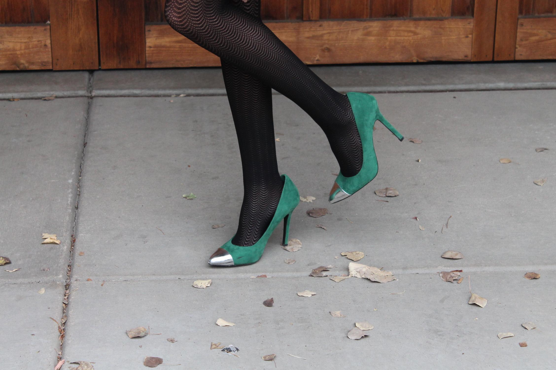 1bd6c5cd8f72 Dress: TJ Maxx Clutch: Nordstrom Tights: Target Shoes: Target