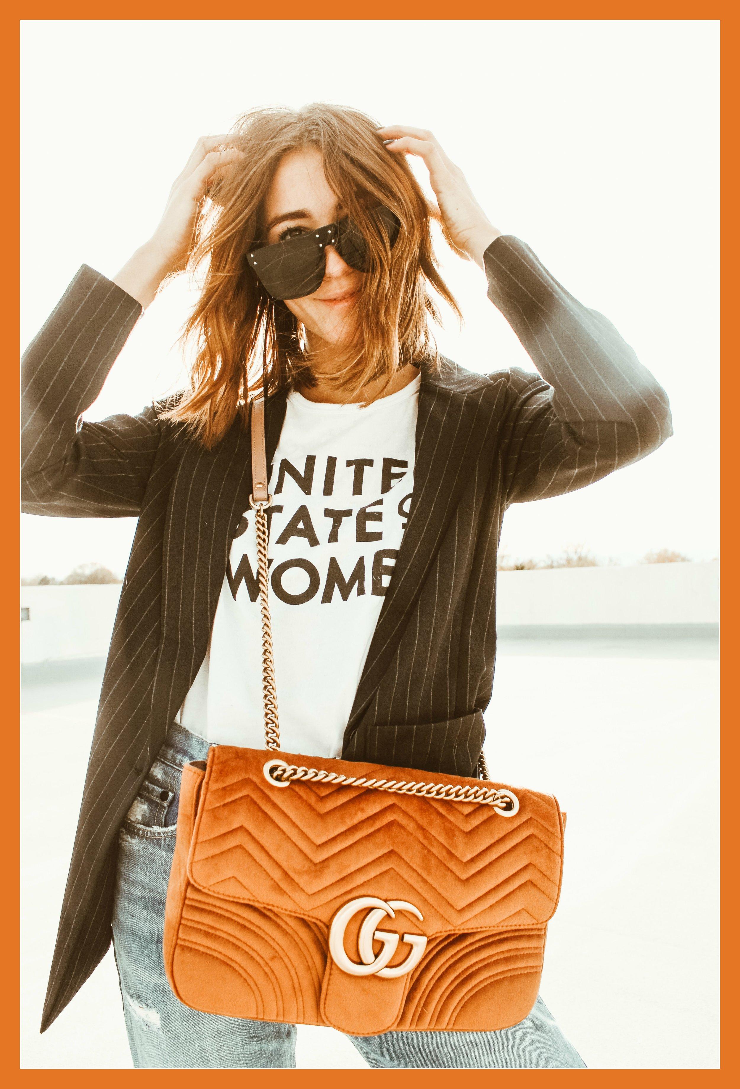 9719240ccca9 GG Marmont Velvet Medium Shoulder Bag Review — With A City Dream