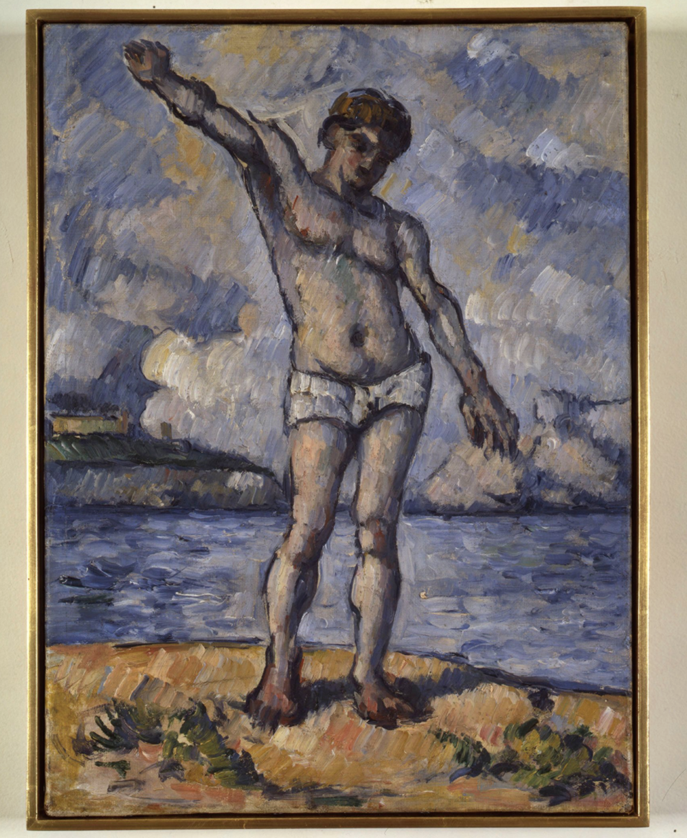 Bather with Outstretched Arm (Study), 1883-85 by Cézanne, owned by Edgar Degas, purchased in 1895 at Vollard's gallery.