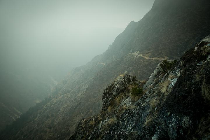 Trail between Pangboche and Phortse, Khumbu Region, Himalayas, Nepal. Photo by Joel Addams.