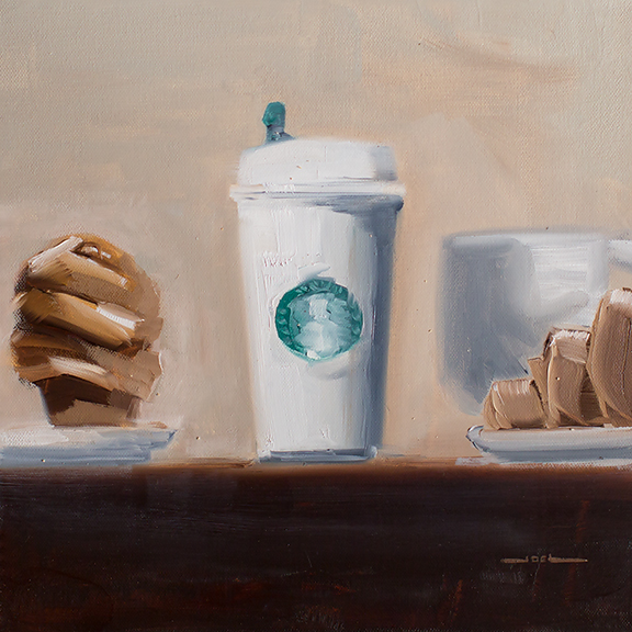 """""""American Morning #1"""" 12x12"""" Oil on Canvas"""