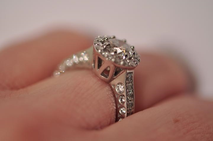 Platinum Engagement ring by Mark William