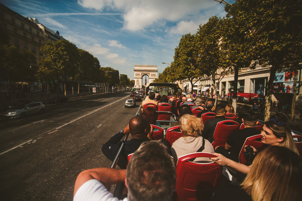 We used the big bus tour to get around to all the sites. It was so much fun riding them. If you ever decide to use these to get around remember to walk with sun screen, I paid the price for thinking I'm immune to the Paris heat just because I'm from Trinidad.