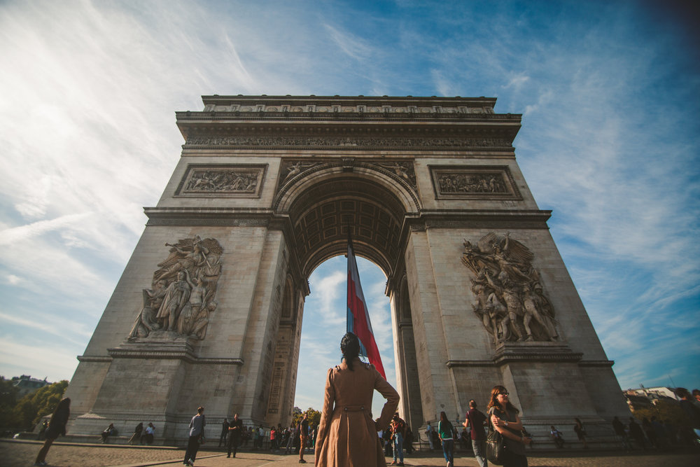 Brittany and the Arc De Triomphe