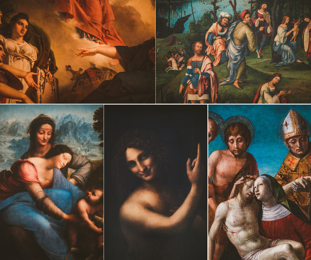 Seeing these paintings up close is the only way to see them.