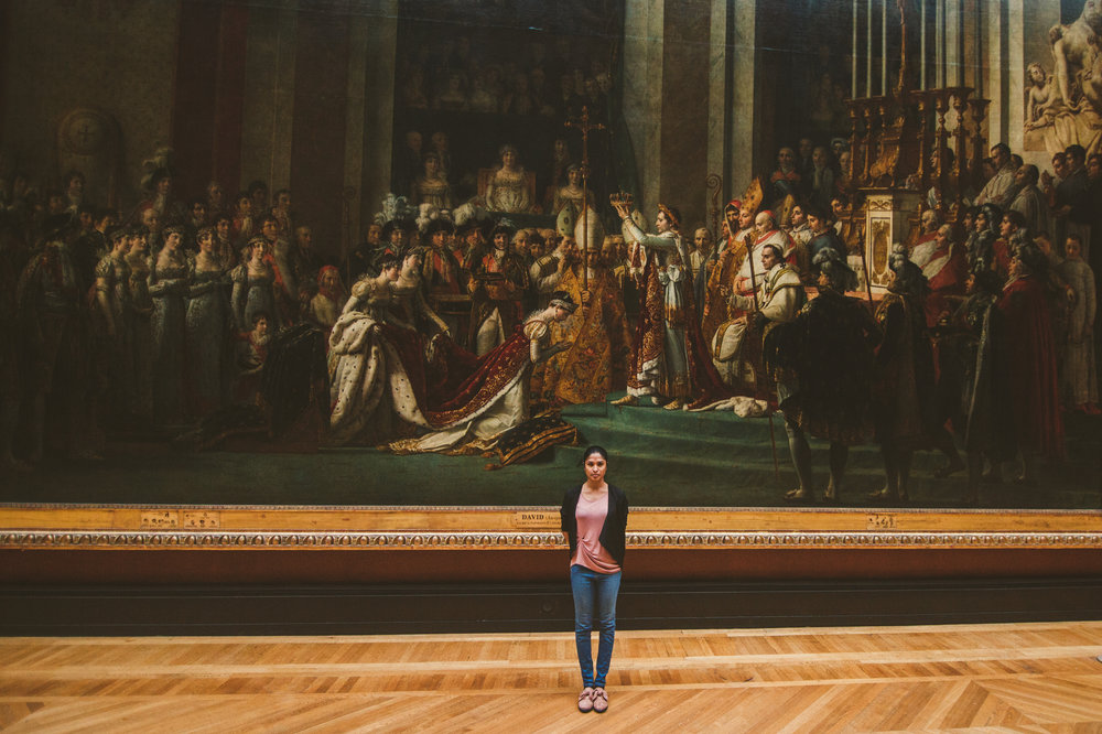 The painting of Napoleon being crowned emperor of France has to be one of my favorites. Just look at the size of it compared to Brittany. I swear it's like actually being there when it happened.