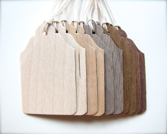 Handmade Wooden Gift Tags by The Woody Beckers