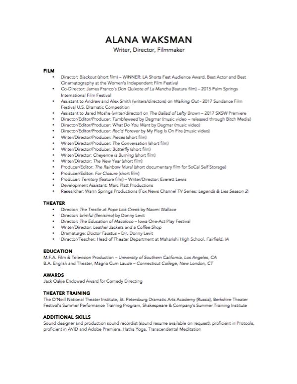 Waksman_Resume_2017