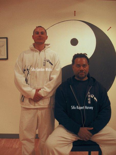Sifu Wicks with Sifu Rupert Harvey