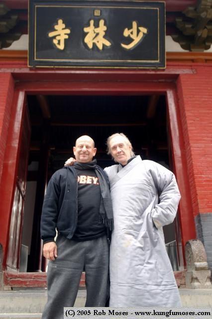 Sigong Moses and Sisuk David Carradine Honoured guests at the Shaolin Temple, Song Shan