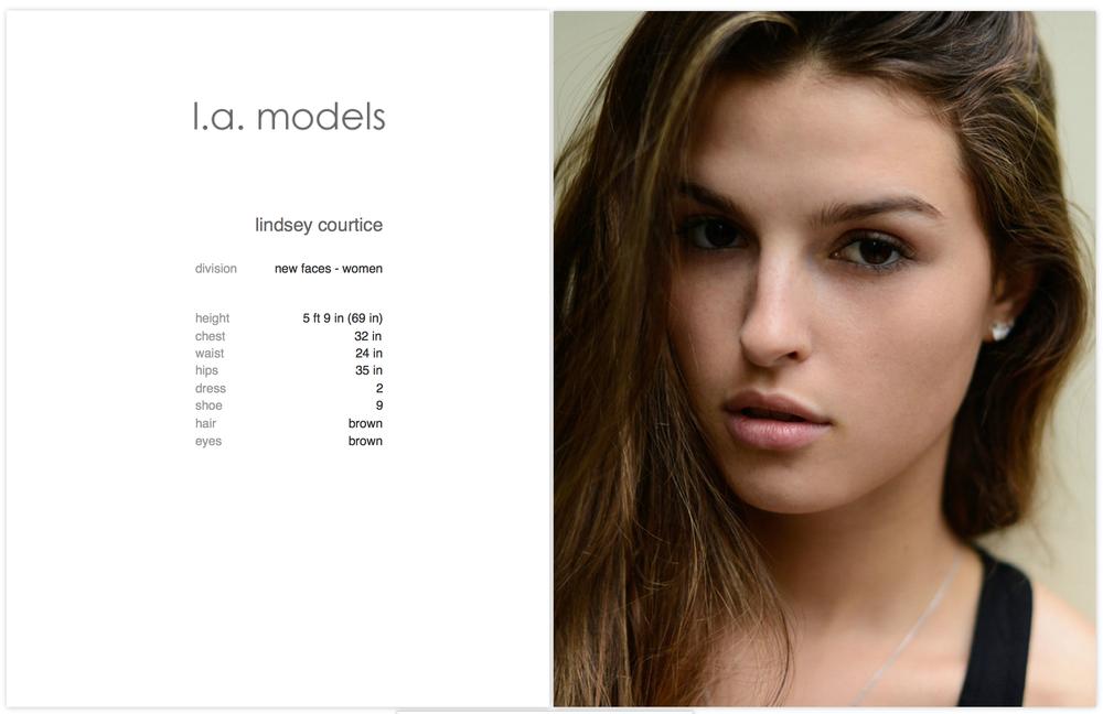 Lindsey Courtice - la models