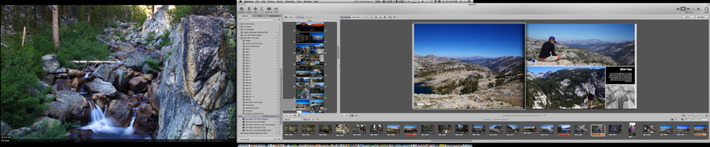 The Aperture editor for creating a photo book.