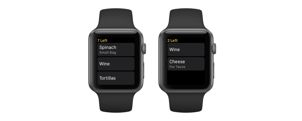 Grocery for Apple Watch